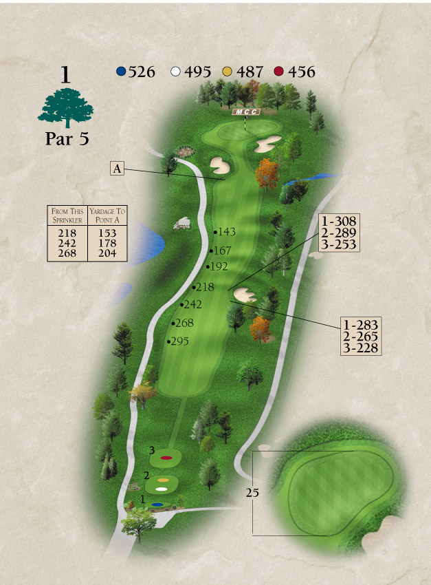 Layout for Hole Number 1
