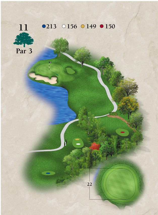 Layout for Hole Number 11