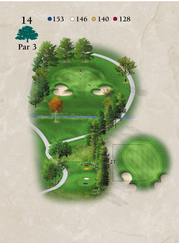 Layout for Hole Number 14