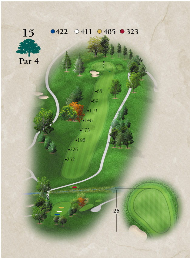 Layout for Hole Number 15