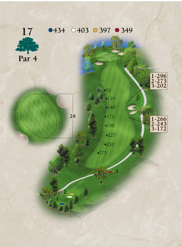 Layout for Hole Number 17