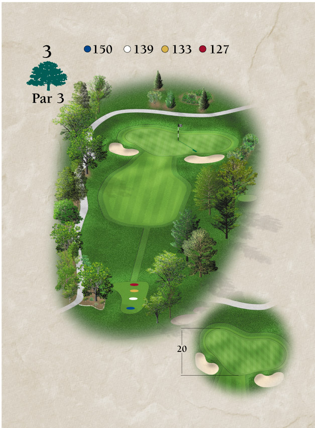 Layout for Hole Number 3