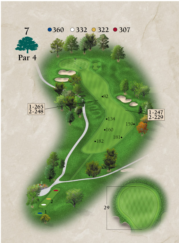 Layout for Hole Number 7